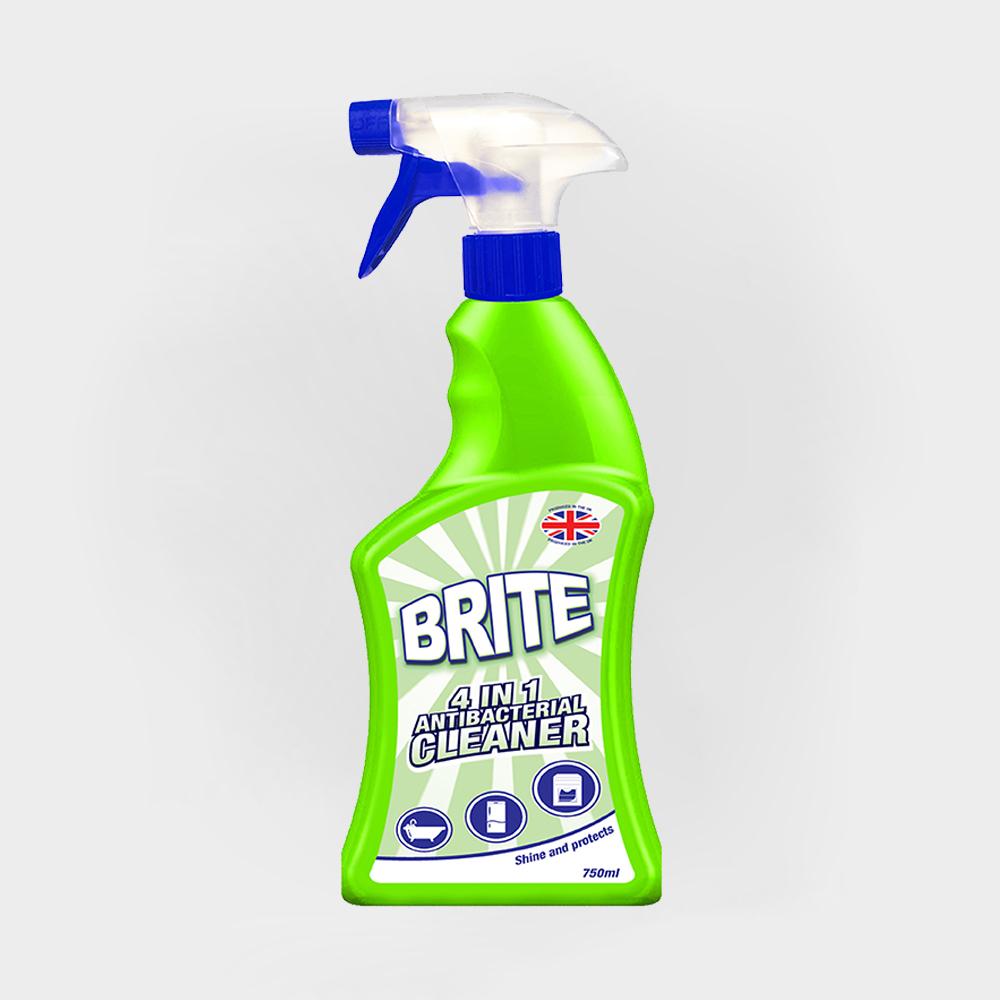 Brite 4 in 1 Antibacterial Spray 750ml